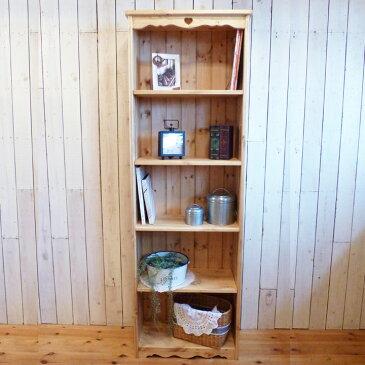 [カントリー家具]ロングブックキャビネットL(本棚)【送料無料】アンティーク ナチュラル カントリー デザイン家具 おしゃれ パイン材[完成品]木製 ナチュラル カントリーテイスト フレンチカントリー モダン 無垢