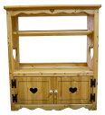 [カントリー家具 収納] 扉付きBOOKキャビネット(本棚)【送料無料】[完成品]子供部屋に!リビングに!木製...