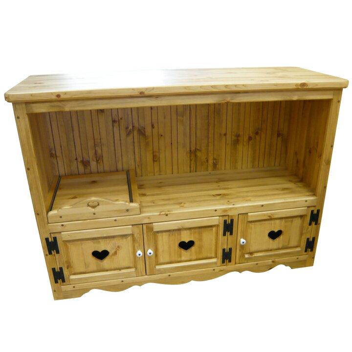 [カントリー家具] カウンターキャビネット(両面式キッチンカウンター)キッチンカウンターキャビネットキッチン収納 パイン材 [完成品]:カントリードリームキャッチ