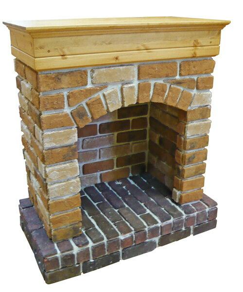 [カントリー家具] マントルピースブリック暖炉(だんろ)パイン材/ディスプレイ/インテリア[完成品]木製 ナチュラル カントリーテイスト フレンチカントリー モダン 無垢:カントリードリームキャッチ