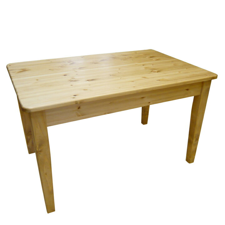 [カントリー家具] ダイニングテーブルW1500 【送料無料】パイン材 テーブル 食卓テーブル [完成品]木製 ナチュラル カントリーテイスト フレンチカントリー モダン 無垢