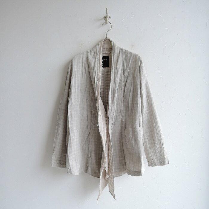 パドカレ pas de calais ギンガムチェックダブルガーゼシャツジャケット 36【中古】【20C02】【高価買取中】