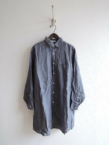 インディビジュアライズドシャツ INDIVIDUALIZED SHIRTS リネンチュニックシャツ size15-28【中古】【高価買取中】