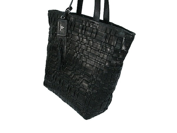 Prada Tote Bag Black Nero Leather Calf PRADA [Used] Good Condition [Free Shipping]