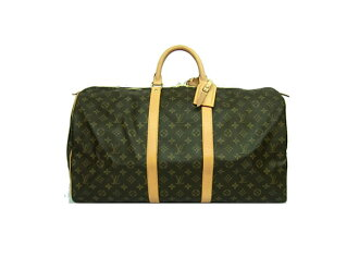 ☆ Louis-Vuitton Monogram keepall Boston 55 back M41424 LOUIS VUITTON travel bag for