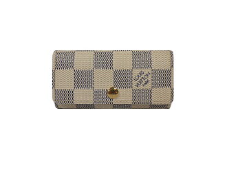 Louis Vuitton Damier Azur 4-key case N60020 multicore 4 LOUIS VUITTON 4 books for key case