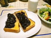 名古屋名物「小倉トースト」に・・・ゆであずきで