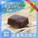 【送料無料】ぬれ納豆入り水ようかん 試してみてセット 6個入り