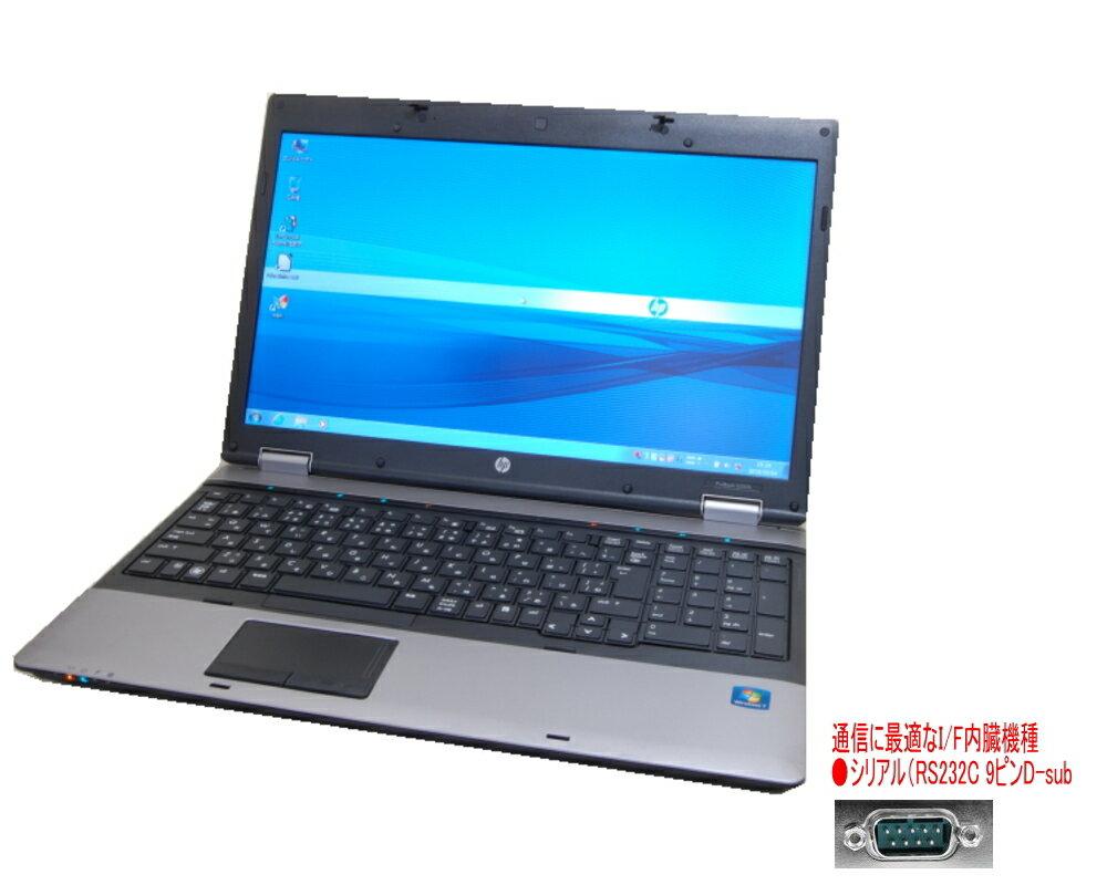 貴重!英語版 WINDOWS10 PRO クリーンインストール HP 6550B 高速 Core I3搭載 搭載 DVDマルチ 無線 互換英語キーボード 貴重なシリアル(RS232C)搭載機種 互換OFFICE【中古】
