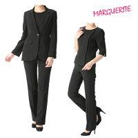[マーガレット]ブラックフォーマル喪服礼服パンツスーツ