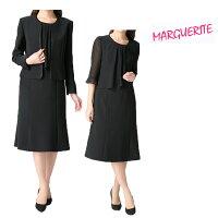 マーガレットブラックフォーマルレディース婦人服喪服礼服アンサンブルワンピース