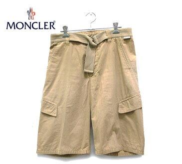 【MONCLER】モンクレール トラック カーゴ ショートパンツ ベージュ サイズ44【中古】