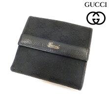 5369221ad426 【GUCCI】グッチGGキャンバスレザーWホック二つ折り財布ブラックRM0031【】 ...