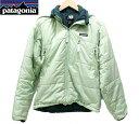 【Patagonia】パタゴニア パフ ジャケット ライムグリーン 黄緑 サイズS 【中古】