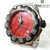 【TAGHEUER】タグホイヤーフォーミュラ1WAC1113クォーツメンズ腕時計赤文字盤クォーツダイバー