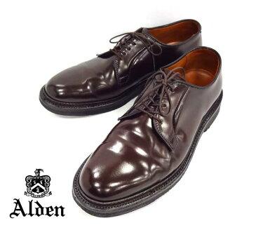 【Alden】オールデン #9903 コードバン プレーントゥシューズ サイズ7 1/2 バーガンディ バリーラスト RM0452 【中古】