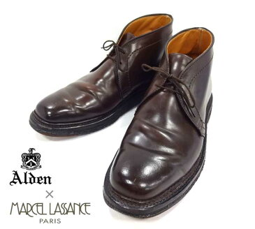 【Alden×Marcel Lassance】オールデン×マルセル・ラサンス チャッカ バーガンディ バリーラスト サイズ6 1/2D #1308Y RM0508 【中古】