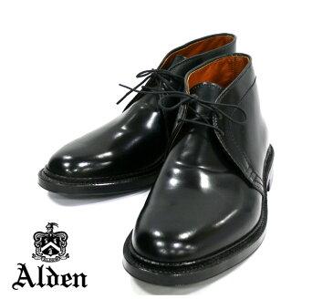 【ALDEN×Ships】オールデン SHIPS別注 コードバン チャッカブーツ #1340 サイズ7 1/2 ブラック 黒 バリーラスト 新古品 RM0831 【中古】【新古品】