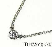 【Tiffany & Co】ティファニー&コー PT950 ダイヤモンド バイザヤード ネックレス ペンダント【中古】