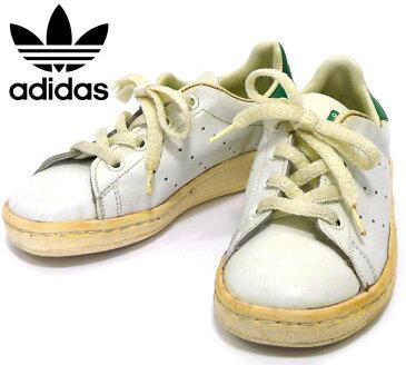 【adidas】アディダス 希少 ヴィンテージ スタンスミス キッズサイズ フランス製 80年代 サイズ約17cm 入手困難 RC0726 【中古】
