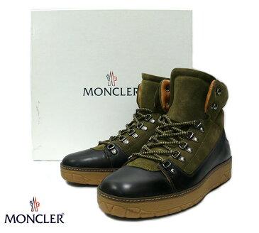 【MONCLER】モンクレール AILE FROIDE トレッキングブーツ カーキ×ダークブラウン サイズ43【中古】