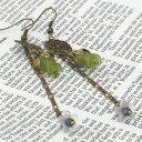 Lady Bug ルーサイト ピアス チューリップ・緑