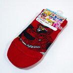機界戦隊ゼンカイジャー スニーカーソックス 15-20cm ゼンカイジュラン柄 レッド のび〜る&フィット 靴下
