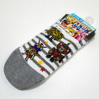 機界戦隊ゼンカイジャー スニーカーソックス 15-20cm 集合プチ柄 ボーダー のび〜る&フィット 靴下