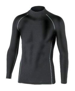 おたふく手袋 防寒下着 BTパワーストレッチ ハイネックシャツ ブラック JW-170 LLサイズ メール便可能