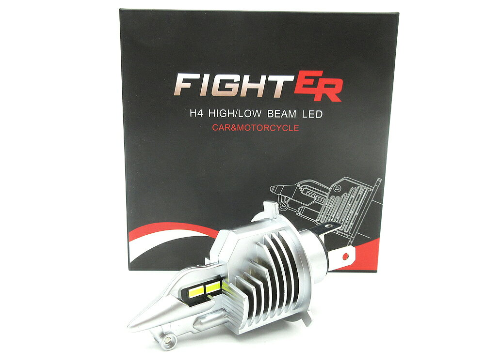 ライト・ランプ, LED FIGHTER LED H4 HiLo 6500K - 8000Lm 1 SRV250 RZ250 RZ350 RZ250R RZ350R RZ-1 RZV500 TZR250 TZR250R XV250 XV400 ZZ-R250 GPX250 Z250FT CB250T RZV500 RGV250 RG250