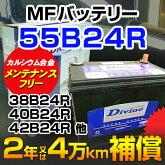 【新品】税込[55B24R]◆MFカルシウムバッテリー◆36B24R40B24R42B24R44B24R46B24R他互換◆日本車
