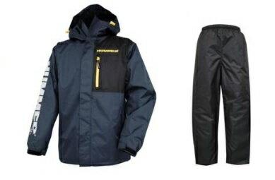 HUMMER(弘進ゴム) HM-3300 防水X防寒レインスーツ ダークネイビー 上下セット パンツは黒色 ハマー サイズLL カッパ ジャンパー
