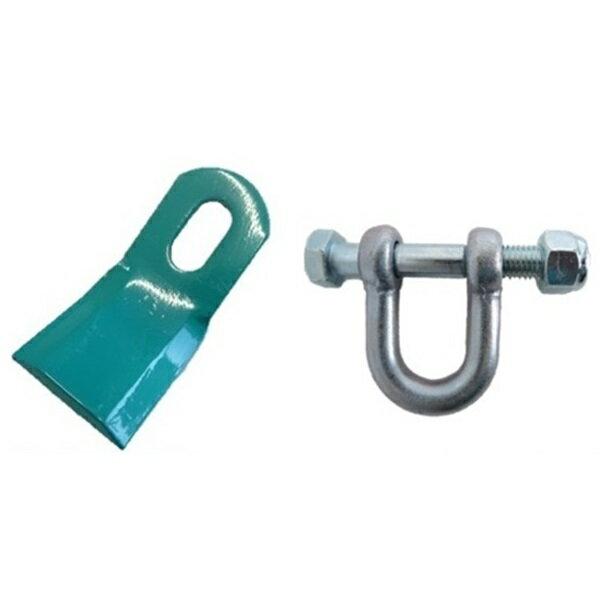 ニプロ フレールモア用 フレール爪 直刃 替刃 (80枚) + 取付シャックル・ボルトセット (40組) セット
