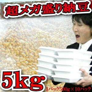 納豆125人分!5kgの納豆♪とにかく沢山食べたい!そのご要望にお答え致します!業務用としても♪大量!【RCP】業務用納豆10個 お取り寄せ 大量注文