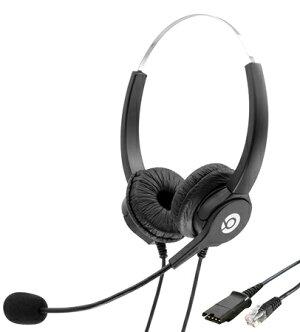 HY107ND、固定電話ヘッドセット両耳、コールセンターヘッドセット、業務用ヘッドセット、電話会議用ヘッドセット