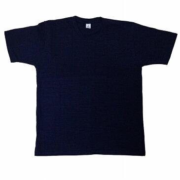 メンズスラブTシャツ 金魚と波紋 (紺)