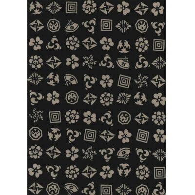 日本製手ぬぐい100種類以上! 綿100%手拭い(てぬぐい) 日本手ぬぐい 歌舞伎紋(黒)【メール便(ポスト投函便)対応商品】