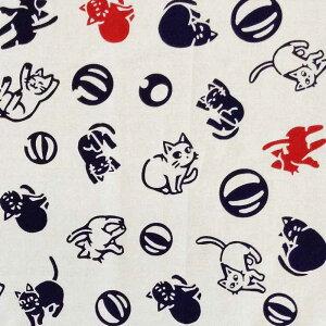江戸てんオリジナルデザインのかわいい猫柄手ぬぐいです。【日本製】 手ぬぐい 江戸てんオリ...