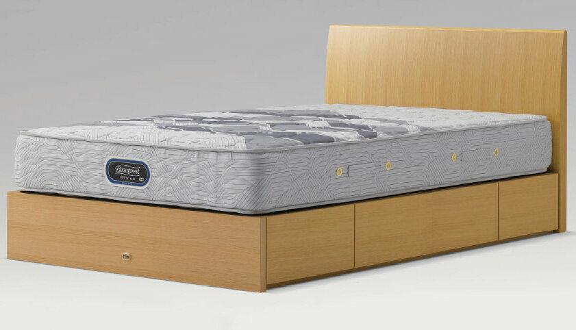 シモンズベッドsimmonsコンサバティブシリーズ クイーン・ワイドダブル メゾンフィーノ 引き出しタイプ・ドロアー ベッド下収納 フラットflat シンプル 省スペース ダークブラウン 送料無料 日本製 マットレス付き