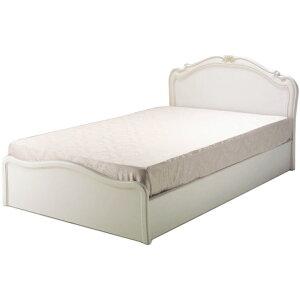 Cantine床经典古董白色双人床[kobo]木制雕刻普通型盒型可爱的公主浪漫的公主家具装饰洛可可风格深棕色日本制造CONTINUE华丽华丽的slatko Matsunaga Kobo B-03框架