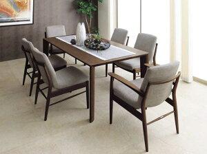 カリモク CD3100 CD3105 DU6200 食堂椅子 食卓テーブル ダイニング7点セット 6人掛け 合成皮革・布張り 選べるカラー 肘付き椅子 食卓セット 座り心地研究 スタイリッシュ 背もたれ付き 送料無料 k