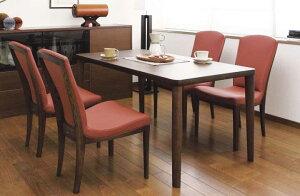 カリモク CT7905 DU5320 150サイズ ダイニング5点セット 4人掛け 食堂テーブル 食卓モダンセット コンパクト リビング・ダイニング兼用 ミドルバック 合成皮革・布張り 選べるカラー 送料無料 kar