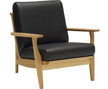 カリモクWU6120/1Pソファ/平織布張・本革張り/一人掛け椅子/木製肘掛ソファ/本革仕様にも/レザー・ファブリックフルカバーリング/送料無料/日本製家具