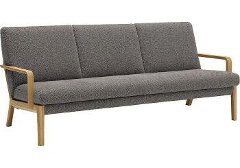 カリモクWU4503/3Pソファ/本革張ソファ/肘掛ソファ/トリプルチェア/3人掛け長椅子/