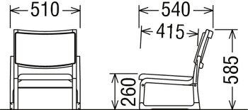 カリモクCS4607K356/低いロータイプ/畳にも使える高座椅子/スタッキング可能/チェア/合成皮革張/和室