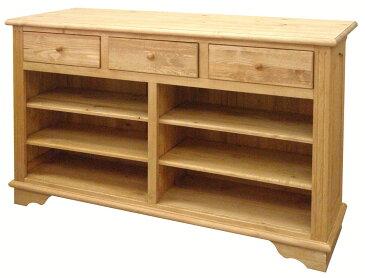 アイロスジャパン A015 食器棚 150サイズ ダイニングカウンター ナチュラル アイランドカウンター 間仕切り 引き出し パイン材 木製無垢木目 送料無料 完成品
