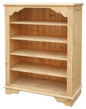 アイロスジャパン T311 ブックシェルフ 80サイズ 本棚 ナチュラル オープン カントリー パイン材 木製無垢木目 送料無料 完成品