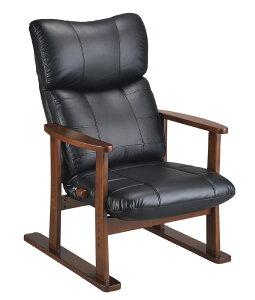 高座椅子 合成皮革座椅子 大河たいが YS-D1800HR 高齢者用家具 ソフトレザー リクライニングチェア ハイバック 送料無料 日本製 ミヤタケ