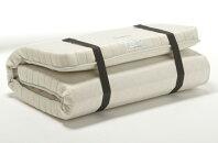 フランスベッド/ラクネスーパー/マットレス/シングルS/国産/折りたたみ/折曲げれるスプリング/臨時ベッド/コンパクト/和室敷布団・薄型マットや二段ベッド用としても