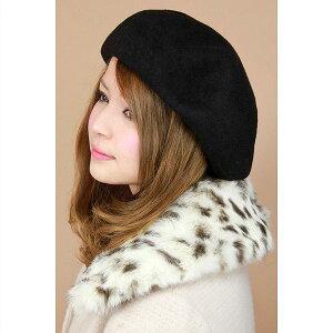 帽子 レディース レディス ベレー帽 国産バスクベレー 大きいトップで耳まですっぽり ブラック(ベレー帽)